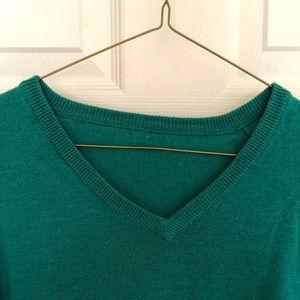 J.Crew merino  fabric teal sweater